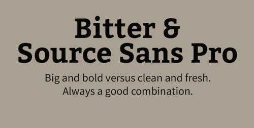 Bitter and Source Sans Pro